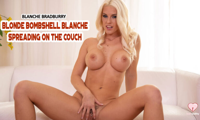 LustReality - Blonde Bombshell Blanche Spreading On The Couch