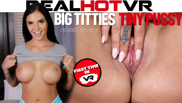 RealHotVR - Big Tits Brunette Desiree Nevada Gets Her Pussy Drilled By Horny Neighbor
