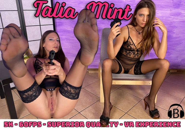 VRFootFetish - Gorgeous Talia Mint teases and seduces a burglar with her sexy feet