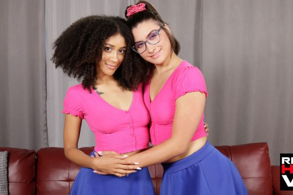 1. RealHotVR - Teen Sluts Angeline Red & Ariana Aimes Want To Fuck Daddy