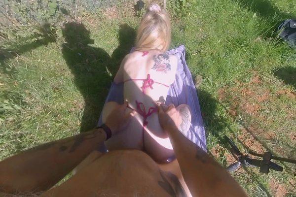 3. BabyKxtten - Hot Sunbathing With Stepdaddy