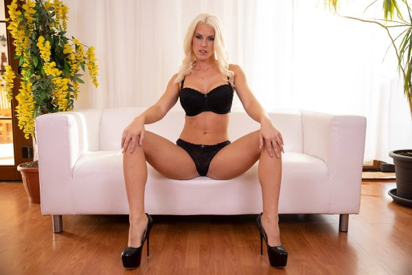 1. LustReality - Blonde Bombshell Blanche Spreading On The Couch