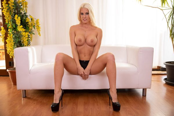 2. LustReality - Blonde Bombshell Blanche Spreading On The Couch