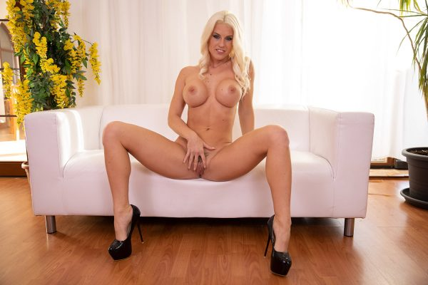 3. LustReality - Blonde Bombshell Blanche Spreading On The Couch