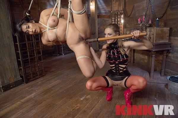 1. KinkVR - Lesbian Rope Slut